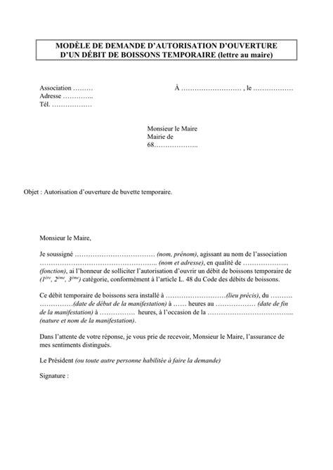 mod 232 le de demande d autorisation d ouverture doc pdf