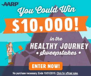 Journeys Sweepstakes - win the aarp healthy journey sweepstakes seriously free stuff