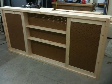 shallow shop wall cabinet  sliding doors
