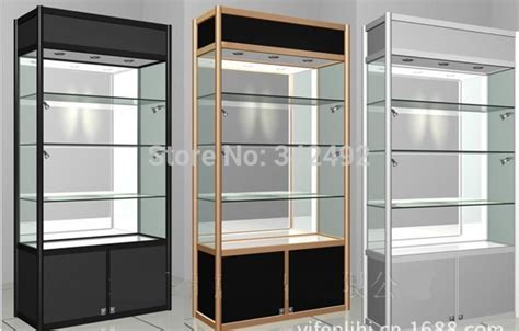 what to display in glass kitchen cabinets glass display showcase glass cabinets wood glass led case