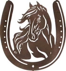 22 Inch Bathroom Vanity by Western Mustang Metal Wall Art In Horse Shoe Rustic