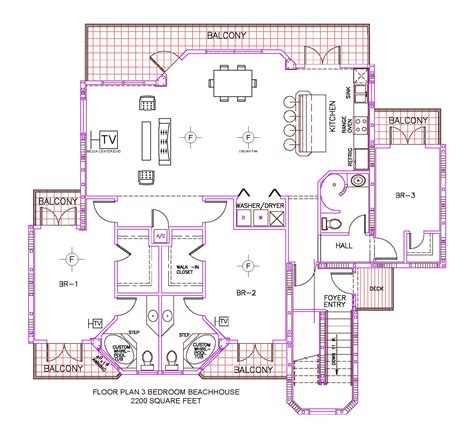 3 bedroom beach house plans floor plan for pelican point st augustine fl
