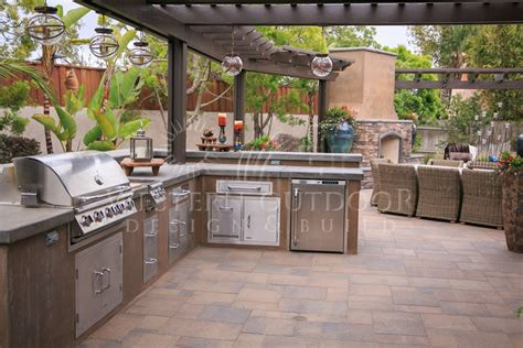 outdoor kitchen island stucco finish bbq islands outdoor kitchens gallery