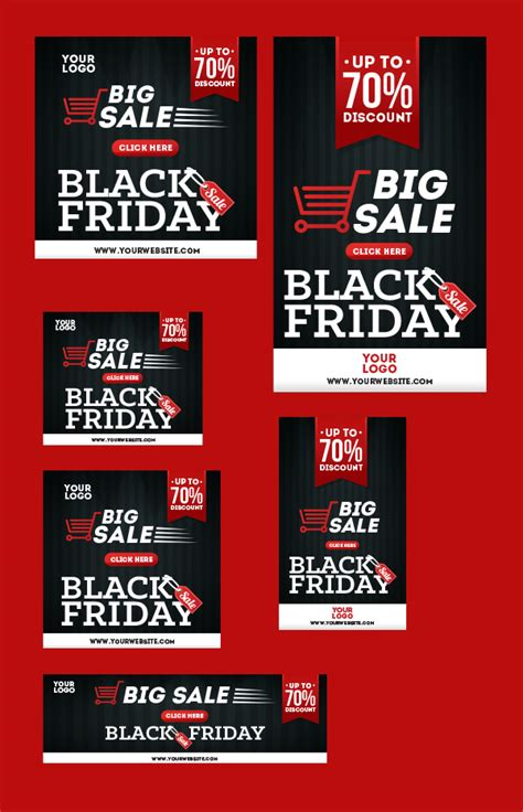 black friday offer banners