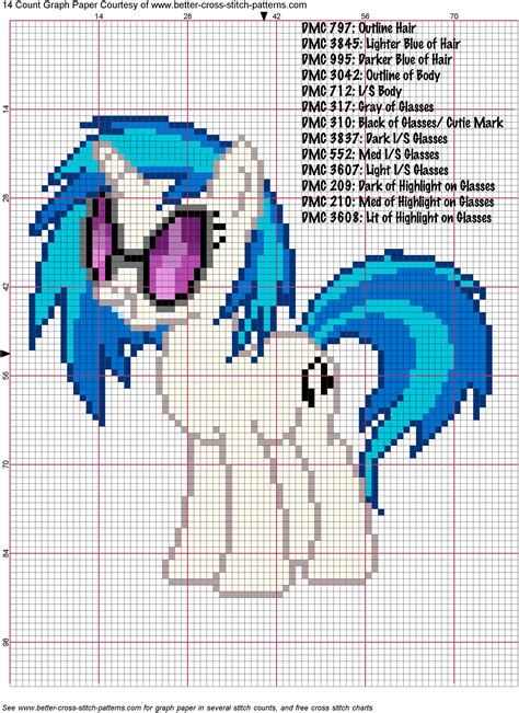 dj pon3 vinyl scratch cross stitch pattern by agentliri