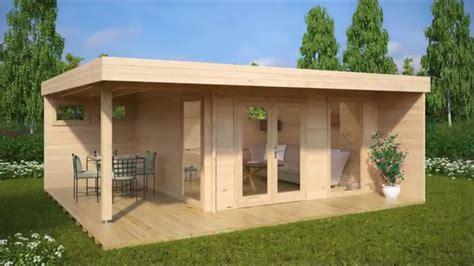 garten mit haus gartenhaus mit terrasse hansa lounge xl