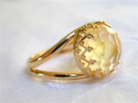 Citrine Rings citrine ring gemstone ring gold ring vintage style ring