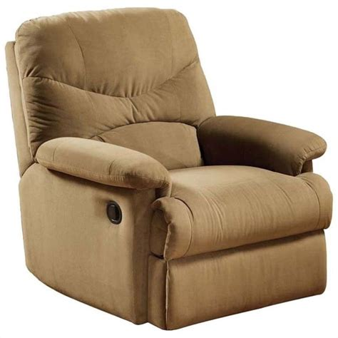 Light Brown Recliner Chair Acme Furniture Arcadia Recliner In Light Brown 00627w