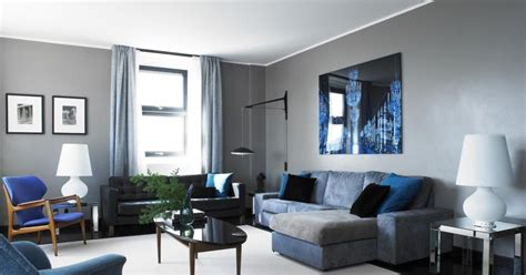 salas en gris  azul salas  estilo