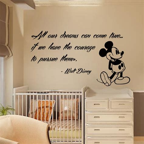 Wall Decal Quotes For Nursery Mickey Mouse Wall Decals Quote Dreams Vinyl Sticker Nursery Decor Kk262 Decalhouse