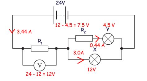 the diagram below shows two resistors connected in series to a 20 volt battery a cyberphysics page