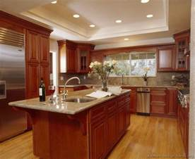 Kitchen Color Ideas With Wood Cabinets Pictures Of Kitchens Traditional Medium Wood Kitchens Cherry Color