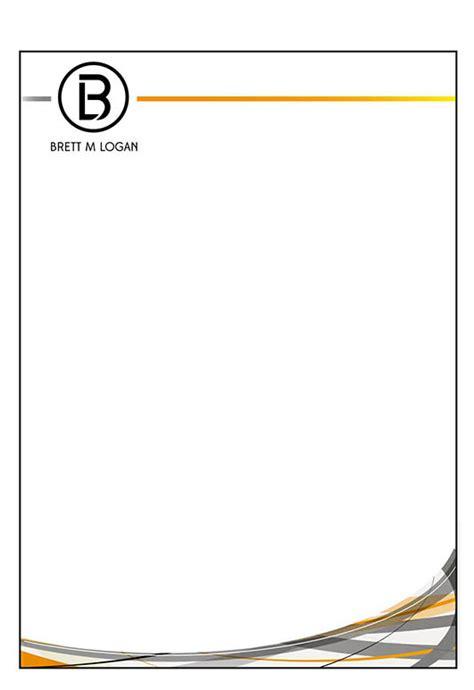 business letterhead footer masculine serious letterhead design for brett logan by