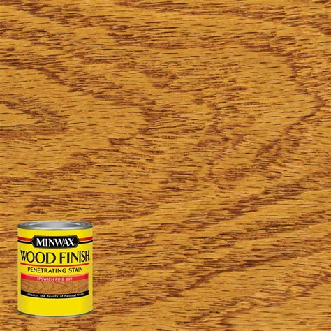minwax stain colors home depot minwax 8 oz wood finish ipswich pine based interior