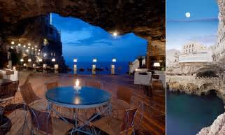 cave restaurant side of a cliff italy grotta palazzese stunning restaurant built inside a cave