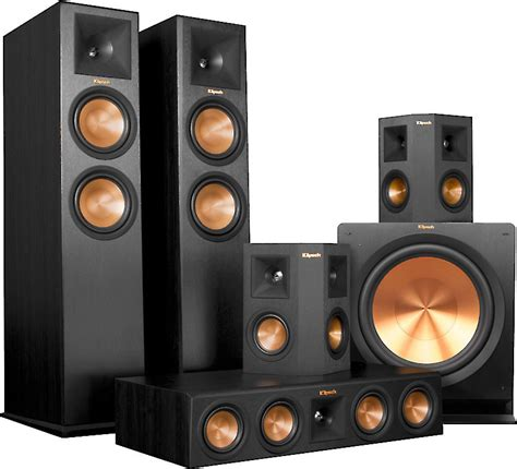 klipsch rp   home theater speaker system ebony