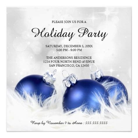 christmas wallpaper invitations an invitation template with blue ornaments on billowy feathers