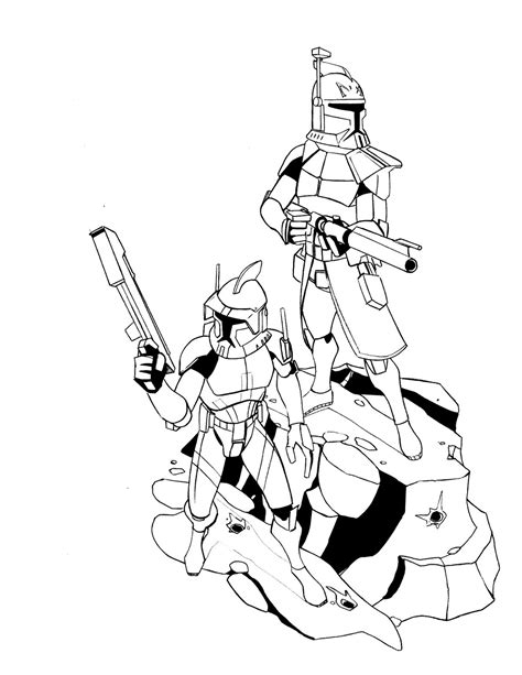 captainrex free colouring pages