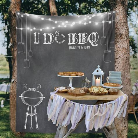 Backyard Wedding, Custom Tapestry, Party Backdrop, Dessert
