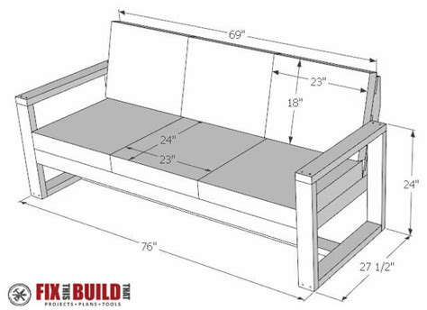outdoor loveseat plans how to build a diy modern outdoor sofa fixthisbuildthat