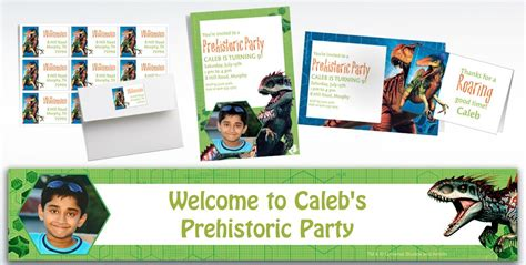 Wedding Banners At City by Custom Jurassic World Wedding Invitations Thank You Notes