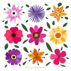 decorative flowers decorative flowers with different designs vector premium