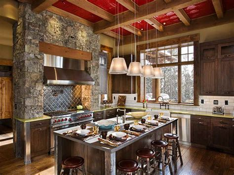 Rustic Home Kitchen Design Bloombety Modern Rustic Homes Kitchen Modern Rustic