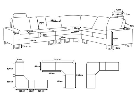 Furniture Measurements Interior Design by Sectional Sofa Dimensions Standard Sizes Ideas For