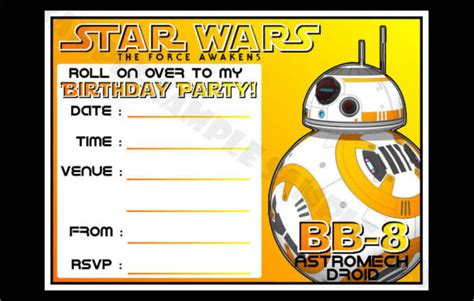 printable star wars invitations 21 star wars birthday invitation template free sle