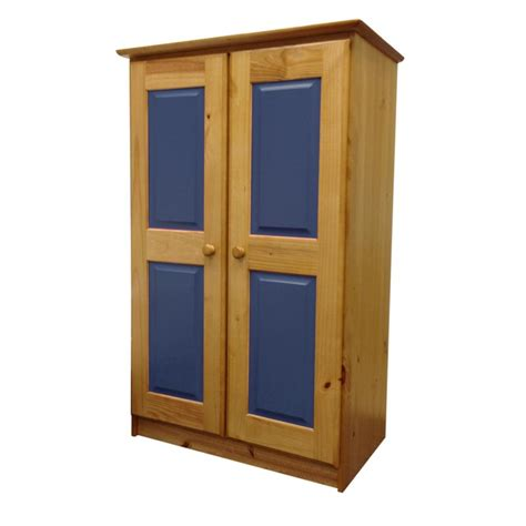 armoire 2 portes enfant quot verona quot 136cm naturel bleu