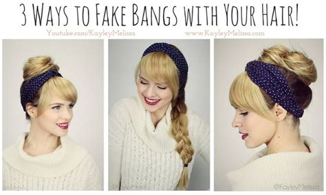 bangs hairstyles tutorial 17 best images about hair beauty health on pinterest