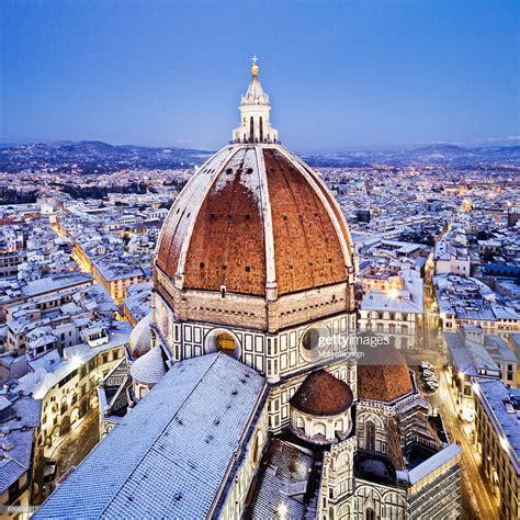cathedral santa fiore the dome of santa fiore cathedral duomo stock