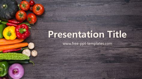 free food powerpoint template powerpoint templates free vegetables choice image
