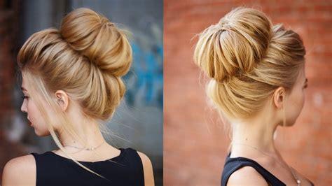 chic textured bun updo for prom wedding