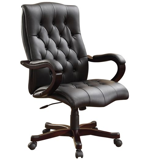 executive office chair black leather  office chairs
