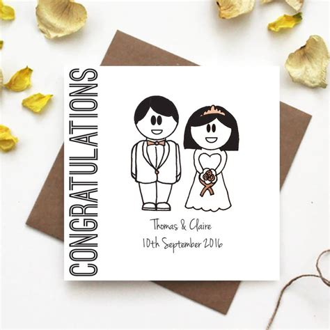 Wedding Congratulations Ideas by Congratulations Wedding Card By The Abstract Bee