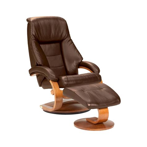 Best Swivel Recliner by Top Grain Leather Swivel Recliner With Ottoman Mac