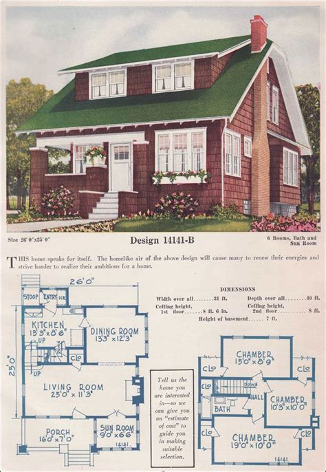 1925 bungalow house plans chicago bungalow house plans 46 best images about vintage house plans on pinterest