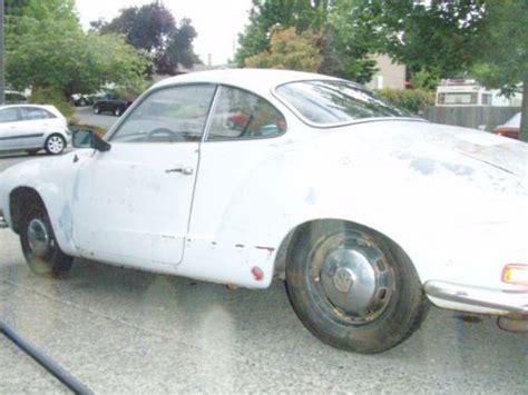sell  classic vw karmann ghia project car  volkswagen lovers  running  beaverton