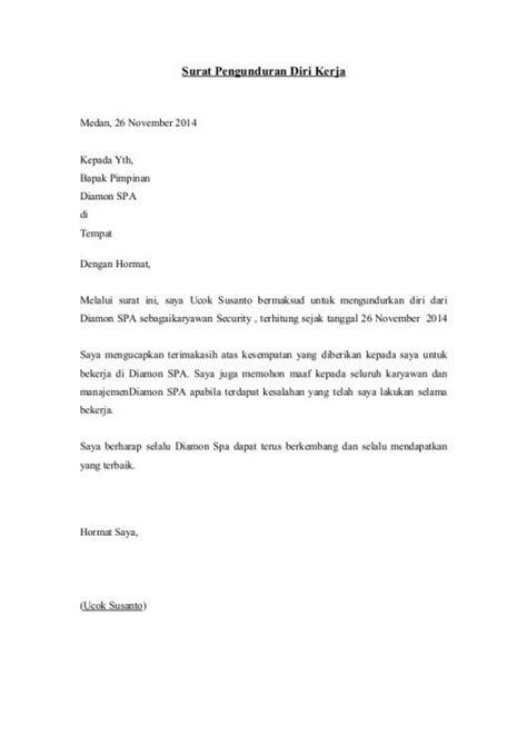 31 contoh surat pengunduran diri surat resign kerja