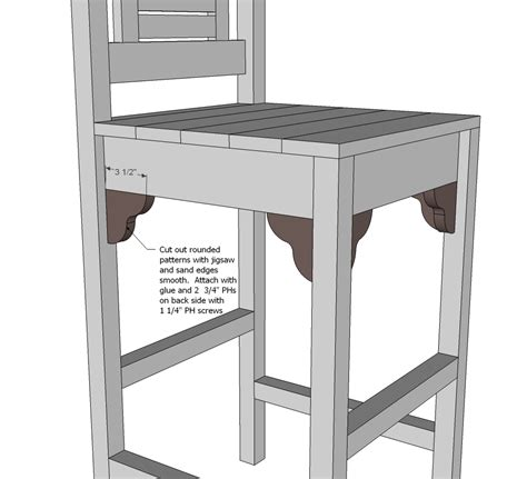 Bar Stools Plans by White Vintage Bar Stool Diy Projects