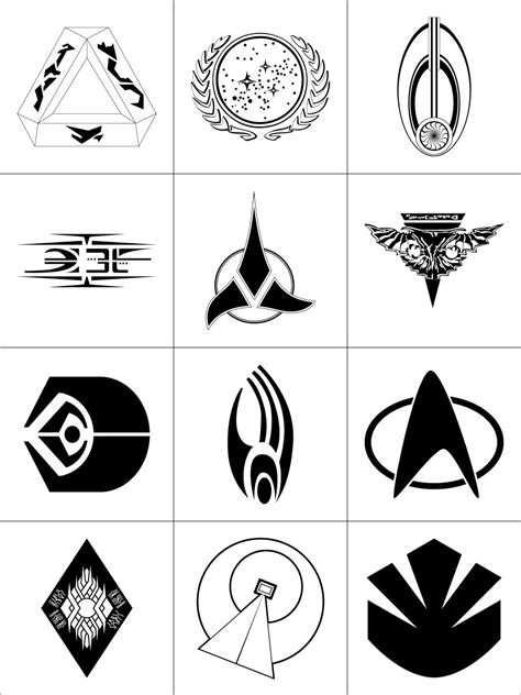 star trek symbols by dridgett on deviantart