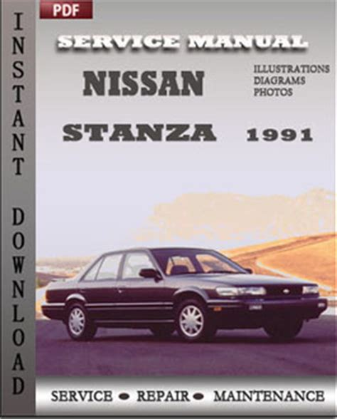 online auto repair manual 1992 nissan stanza electronic valve timing nissan stanza 1991 maintenance manual pdf global service manuals