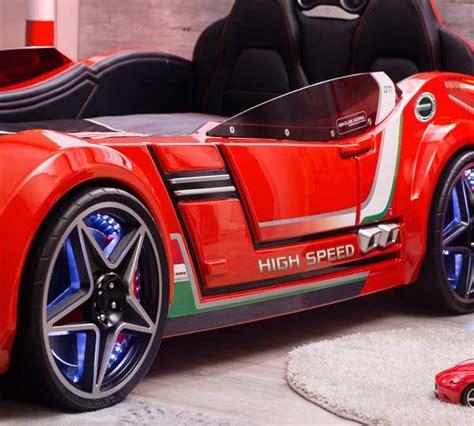 lit voiture enfant gti rouge led