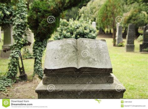 cemetery books book tombstone stock photo image 44814022