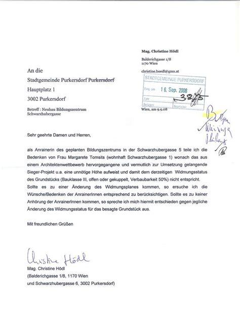 Antrag Gemeinderat Vorlage Purkersdorf Protokoll Gemeinderatssitzung 30 9 2008