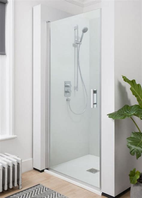 Simpsons Shower Door Simpsons Click Hinged Shower Door 800mm