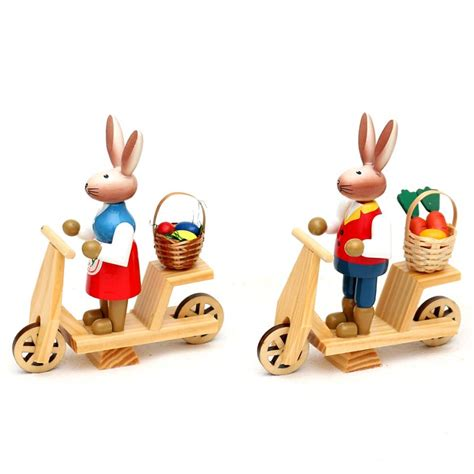 Roller 31 5cm osterhasen auf roller 12 5 x 4 5 x 11 5 cm 2er set 19 95