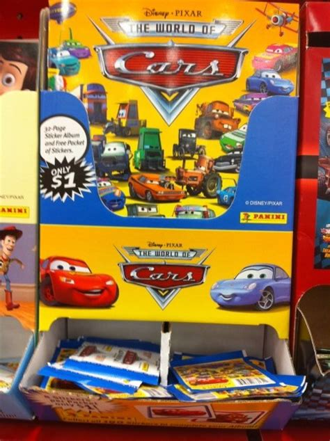 Cars Toon Sticker Album by Take Five A Day 187 Blog Archive Panini Sticker Books And