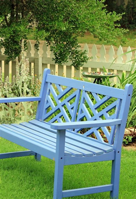 blue outdoor bench blue garden bench garden benches chairs sheds pinterest